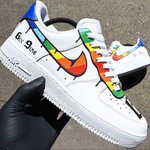 6ix 9ine Nike Air Force 1 CUSTOMS
